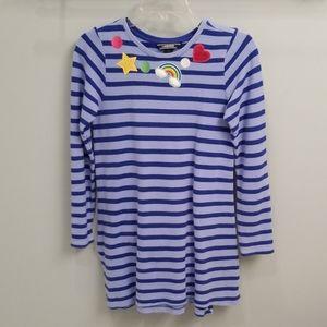 Lands' End Blue Striped Decorative Tunic in Size L